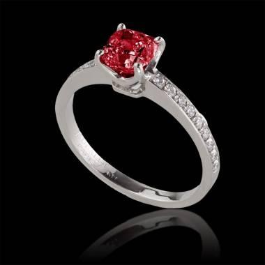 Rudy engagement ring diamond paving white gold Sandy