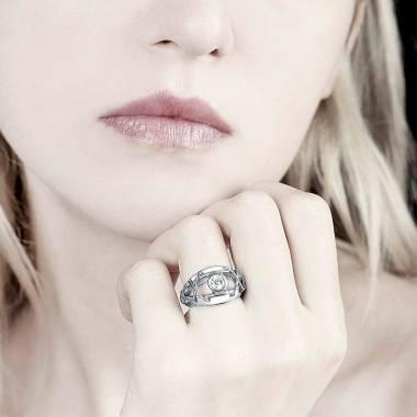 Diamond Engagement Ring White Gold  Délassée