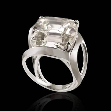 Diamond Engagement Ring White Gold Future Solo