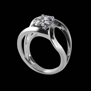 Round Diamond Engagement Ring White Gold Future Solo