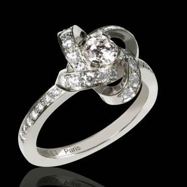 Diamond Engagement Ring  Diamond Paving  White Gold Chloe