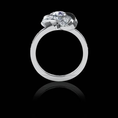 Diamond Engagement Ring  Diamond Paving  White Gold Chloe