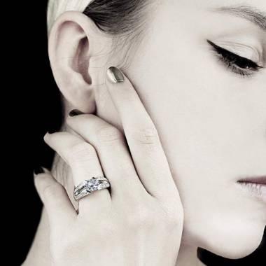 Diamond Engagement Ring Diamond Paving White Gold Isabelle