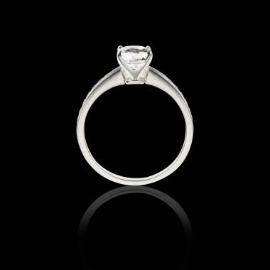 Diamond engagement ring diamond paving white gold Sandy