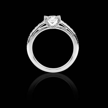 Diamond engagement ring diamond paving white gold Hera