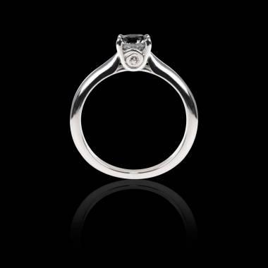 Black diamond engagement ring white gold Motherhood
