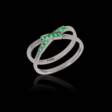 Emerald Engagement Ring White Gold Tifène