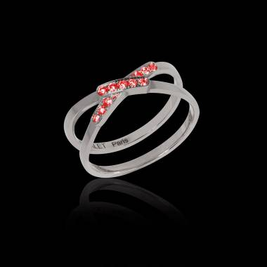 Ruby Engagement Ring White Gold Tifène
