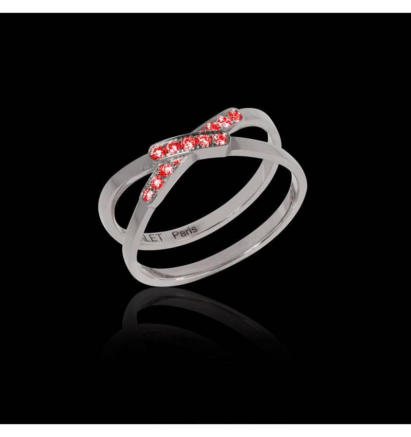 Ruby Engagement Ring White Gold Tifène