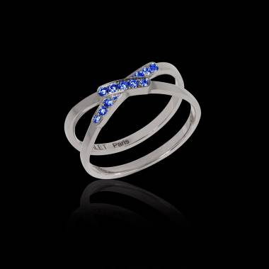 Blue Sapphire Engagement Ring White Gold Tifène