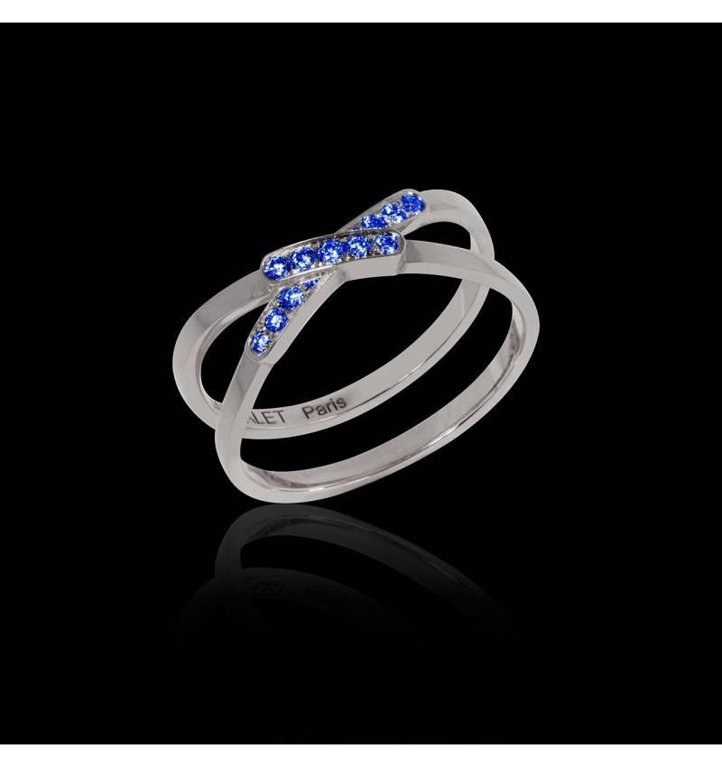 Blue Sapphire Engagement Ring White Gold Tifène