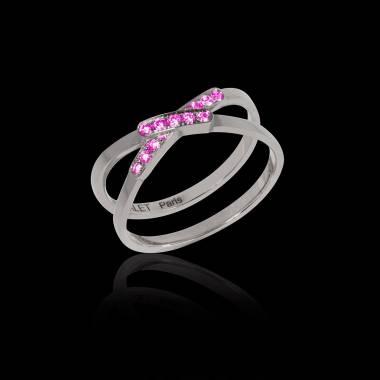 Pink Sapphire Engagement Ring White Gold Tifène