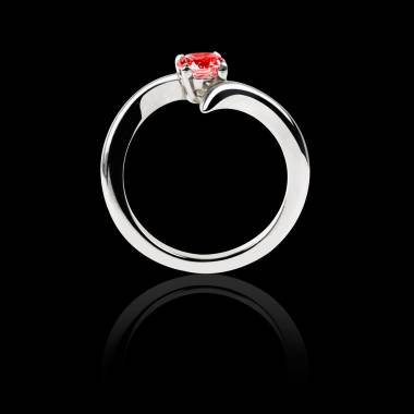 Ruby Engagement Ring White Gold Serpentine