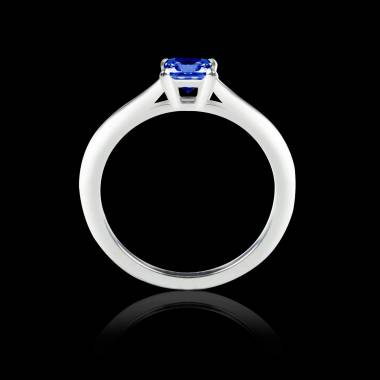 Blue sapphire engagement ring white gold My Love