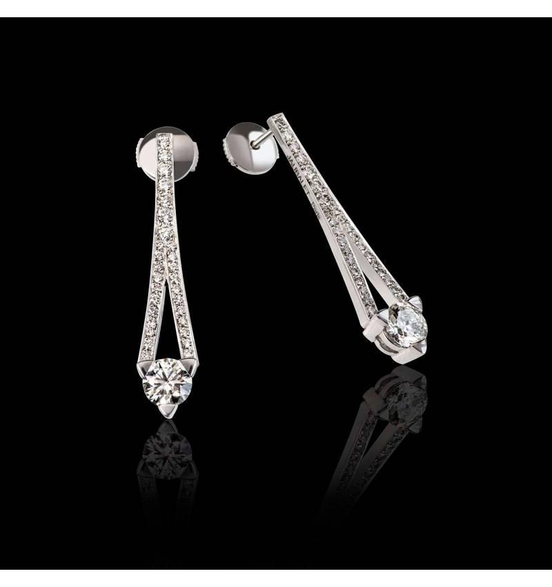 Boucles oreilles diamant Plena Luna