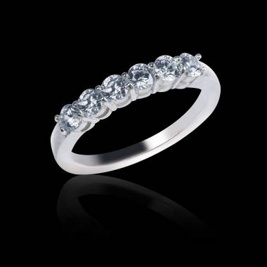 White Gold Wedding Band Diamond Paving Cassiopa