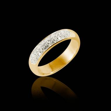 Yellow Gold Wedding Band Saturne
