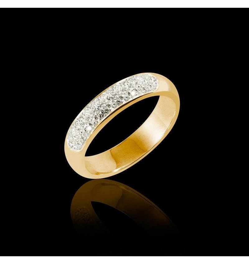 Yellow Gold Wedding Band Saturne