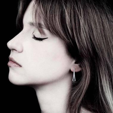 Boucles d'oreilles diamant noir Plena Luna