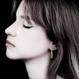 Boucles d'oreilles émeraude Plena Luna