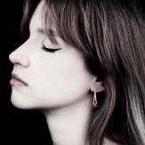 Boucles d'oreilles saphir rose Plena Luna
