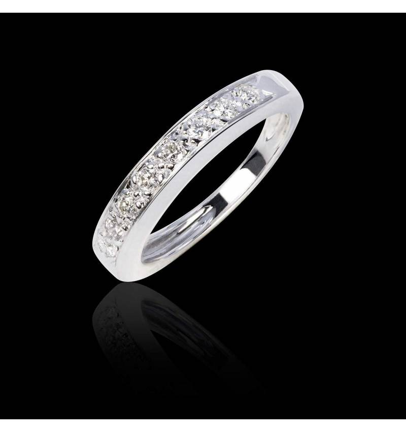 Deliciae Diamond Wedding Band White gold