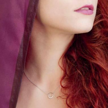 Ruby Pendant Gold Clair de Lune