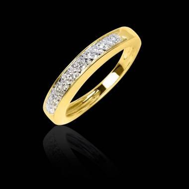 Diamond Yellow Gold Wedding Band Deliciae