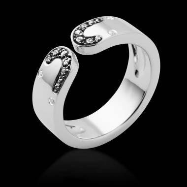 Engagement Ring Diamond Paving White Gold Séductrice