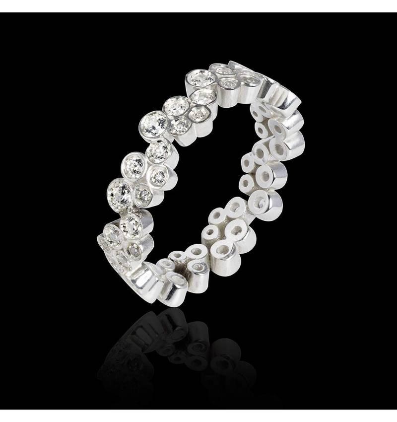 Diamond Wedding Band Platinum Neptune