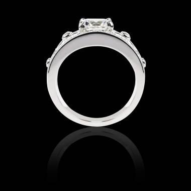 Diamond Engagement Ring White Gold Regina Suprema
