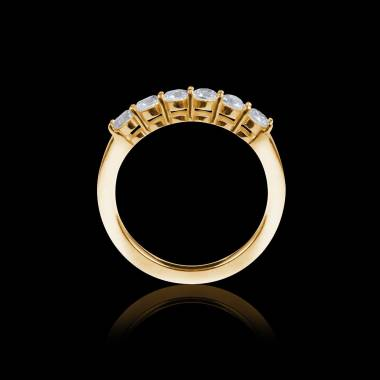 Yellow Gold Wedding Band Cassiopa