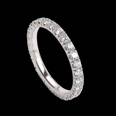 Eve Diamond Wedding Band White Gold