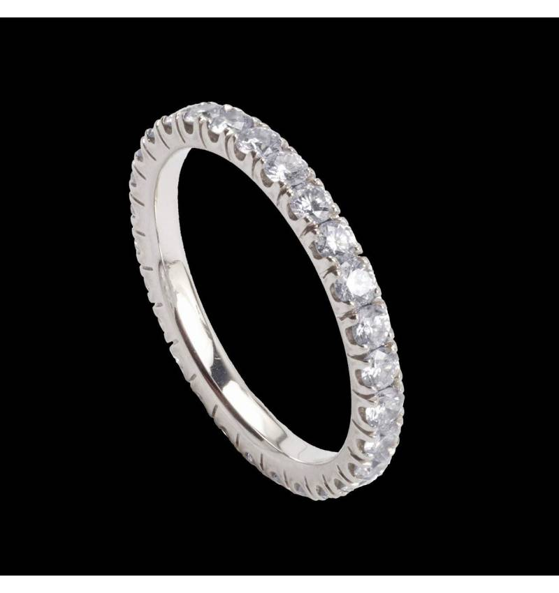 Eve Diamond Wedding Band Platinium