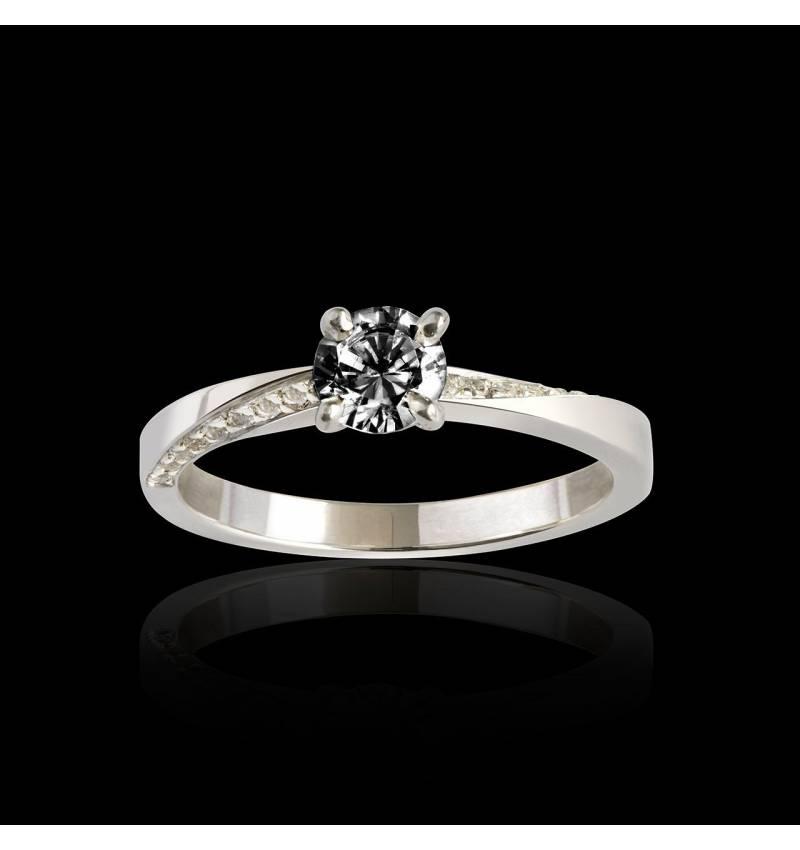 Bague diamant noir Meryem