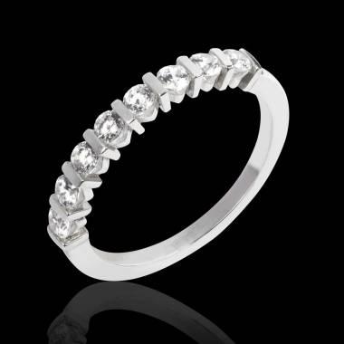 Diamond Wedding Band White Gold Xena