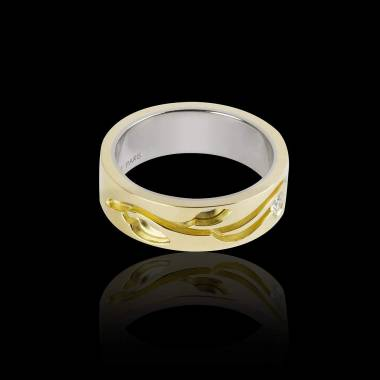 Elena Diamond Wedding Band Yellow Gold