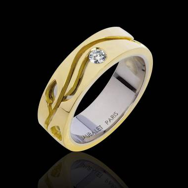 Elena Diamond Wedding Band Yellow Gold