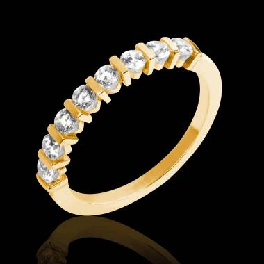 Diamond Wedding Band Yellow Gold Xena
