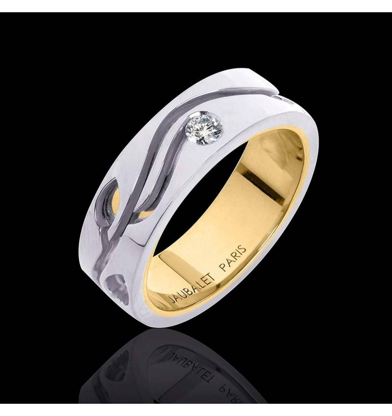 Diamond Wedding Band Yellow Gold Elena