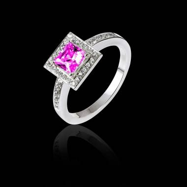 Perrine Pink Sapphire Ring