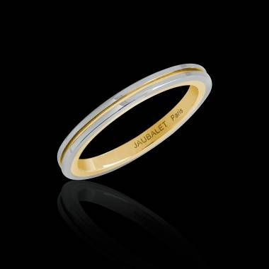 Melanie White Gold Yellow Gold stripe