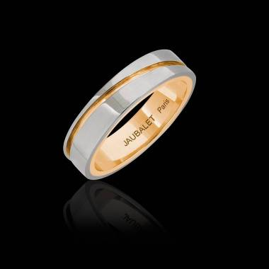 Alexandre  White Gold and Yellow Gold stripe