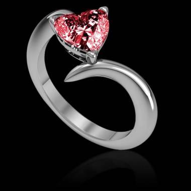 Bague de fiançailles rubis coeur Serpentine