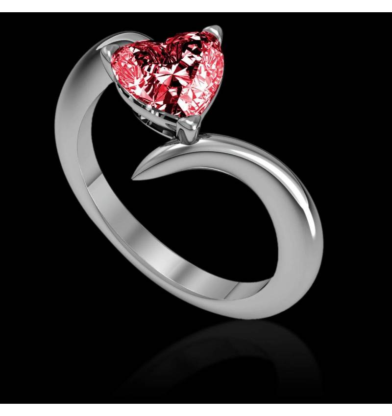 Serpentine Heart Ruby Ring