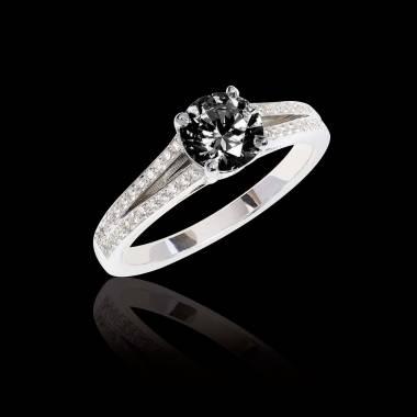 Bague de fiançailles diamant noir Marie