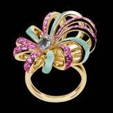 Diamond Engagement Ring White Gold Dahlia en laque