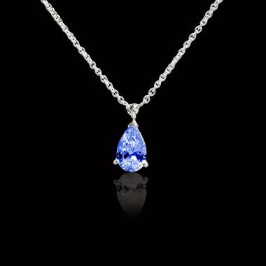 Goutte d'amour Blue Sapphire Pendant