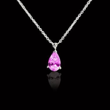 Goutte d'amour Pink Sapphire Pendant