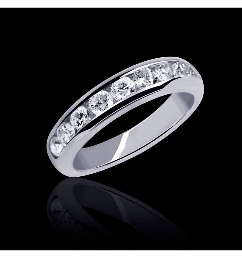 Florence Diamond Wedding Band White Gold